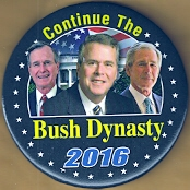 Bush family campaign button.