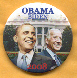 Obama Biden campaign button