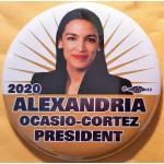 D2020  1B  - Alexandria Ocasio-Cortez President 2020  Campaign Button