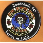 Sanders  2J  - Deadheads  For Bernie in 2020  Campaign Button