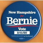 Sanders  8D  - New Hampshire for Bernie  Vote 2/11/20  Campaign Button