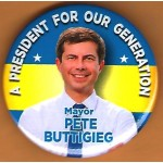 Buttigieg  1A  - A President For Our Generation Mayor Pete Buttigieg  Campaign Button