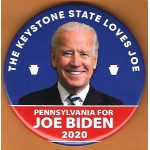 Biden  7E - The Keystone State Loves Joe Pennsylvania For Joe Biden 2020 Campaign Button
