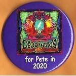 Buttigieg  7M  -  Deadheads for Pete in  2020 Campaign Button