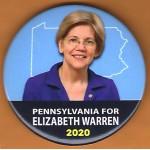 Warren  2D - Pennsylvania Elizabeth Warren 2020  Campaign Button