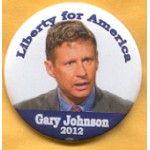 3rd Party 2B - Liberty for America Gary Johnson Campain Button