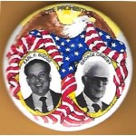 3rd Party 11V  - Vote Prohibition Earl F. Dodge George Ormsby Campaign Button