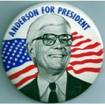 3rd Party 4D - Anderson For President Campaign Button