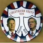 Libertarian  2016 7P - Libertarian Party  2016 Johnson  Weld Campaign Button