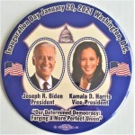 Harris 8B  -   Inauguration Day January 20 , 2021 Joseph R. Biden President Kamala D.  Harris Vice President   6 Inch Campaign Button