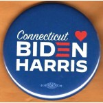 Biden 15E  - Connecticut (Loves)  Biden Harris   Campaign Button
