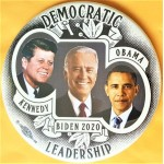 Biden  10E  - Democratic Leadership Kennedy Obama Biden 2020  Campaign Button