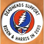 D2020 17G  -  Deadheads Support  Biden & Harris  2020 Campaign Button