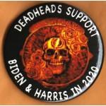 Biden  14D  -  Deadheads Support  Biden & Harris  2020 Campaign Button