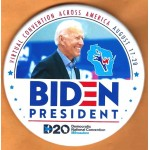 Biden 17G  -  Virtual Convention Across America August 17 - 20  Biden  President   Campaign Button