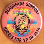 Harris  14H  - Deadheads Support  Harris For VP In 2020  Campaign Button