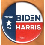 Biden 15G  - Texans For   Biden Harris   Campaign Button
