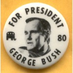 Bush 33C - For President 80 George Bush Campaign Button
