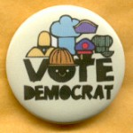 Cause 9C -  Vote Democrat Campaign Button