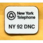 Clinton 115A - New York Telephone NY 92 DNC  Lapel Pin