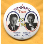 Clinton 26A - Clinton For President Betteman Ohio Supreme Court Campaign Button
