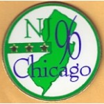 Clinton 41C - NJ 96 Chicago Lapel Pin