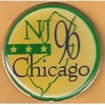 Clinton 42C - NJ 96 Chicago Lapel Pin