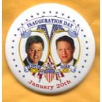 Clinton 5E - Inauguration Day Clinton Gore 1997 January 20th Campaign Button