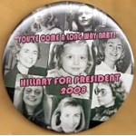 """Hillary 8F -  """"You've Come A Long Way Baby!"""" Hillary For President 2008 Campaign Button"""