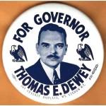 Dewey 4R -  For Governor Thomas E. Dewey Campaign Button