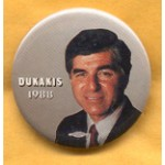 Dukakis 26A - Dukakis 1988 Campaign Button