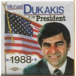 Dukakis 34N - Michael Dukakis For President 1988 Campaign Button