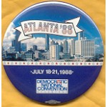 Dukakis 38B  - Atlanta 1988 Democratic National Convention Campaign Button
