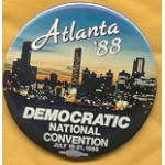 Dukakis 39B - Atlanta Democratic National Convention July 18 - 21 , 1988 Campaign Button