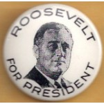 FDR 14A - Roosevelt For President Campaign Button