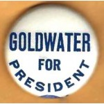 Goldwater 8J - Goldwater For President  Campaign Button