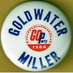 Goldwater 10J - Goldwater GO Party 1964 Miller Campaign Button