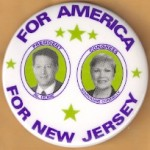 Gore 18H - For America For New Jersey President Al Gore Congress Maryanne Connelly Campaign Button