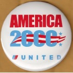Gore 29E - America 2000 United Advertising Button