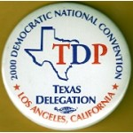 Gore 32D - 2000 Democratic National Convention Texas Delegation Campaign Button