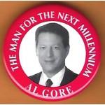 Gore 4M - The Man For The Next Millennium Al Gore Campaign Button