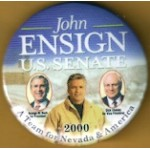 G.W. Bush 1V - John Ensign U.S. Senate Bush Cheney 2000 Campaign Button