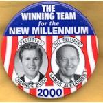 G.W. Bush 32 - The Winning Team for the New Millennium President George Bush  Lamar Alexander Vice President Campaign Button