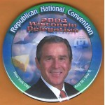 G. W. Bush 35E - Republican National Convention  2004 Wisconsin Delegation  Campaign Button