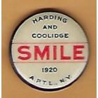 Warren G. Harding Campaign Buttons (3)