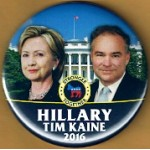 Hillary 7G - Hillary Tim Kaine 2016 Stronger Together Campaign Button