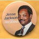 Hopeful 49F - Jesse Jackson For President Campaign Button