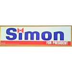 Hopeful 14T - Simon For President Bumper Sticker