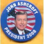 Hopeful 18B - John Ashcroft President 2008 Campaign Button