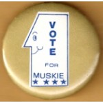 Hopeful 1Q - Vote For Muskie Campaign Button